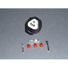 TS 3 way Tri pin connector socket